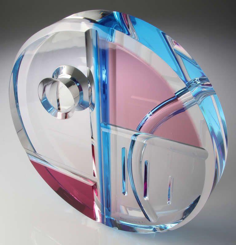Ring handmade titanium blue plexiglass plexi rivets acrylic square shaped titan Titanio