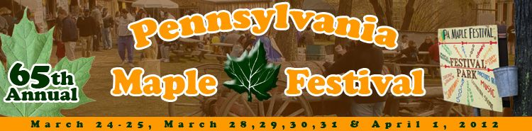 The Meyersdale Maple Festival  did this every year as a kid - it doesn't get much more nostalgic.