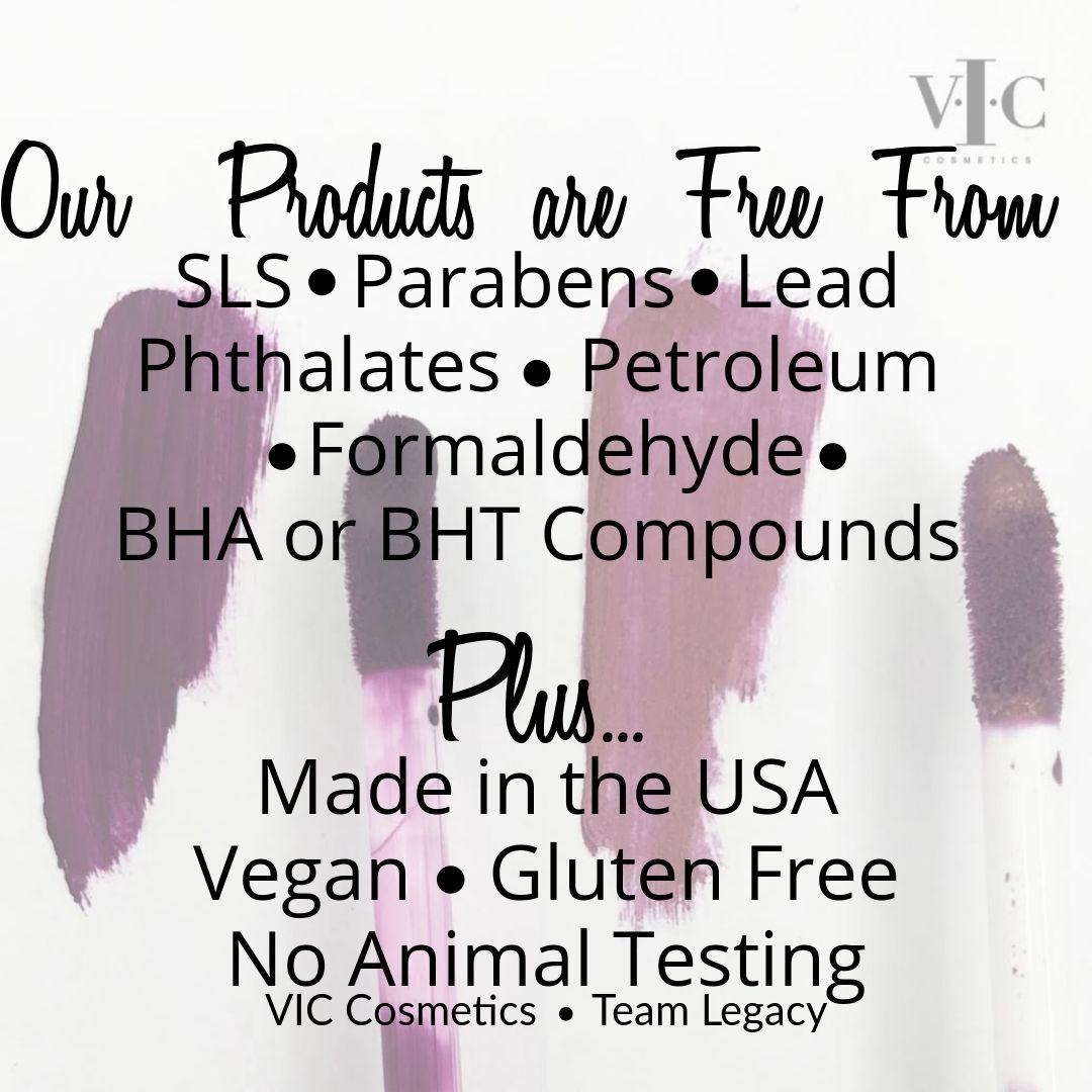 Crueltyfree, nontoxic, vegan cosmetics. USA made