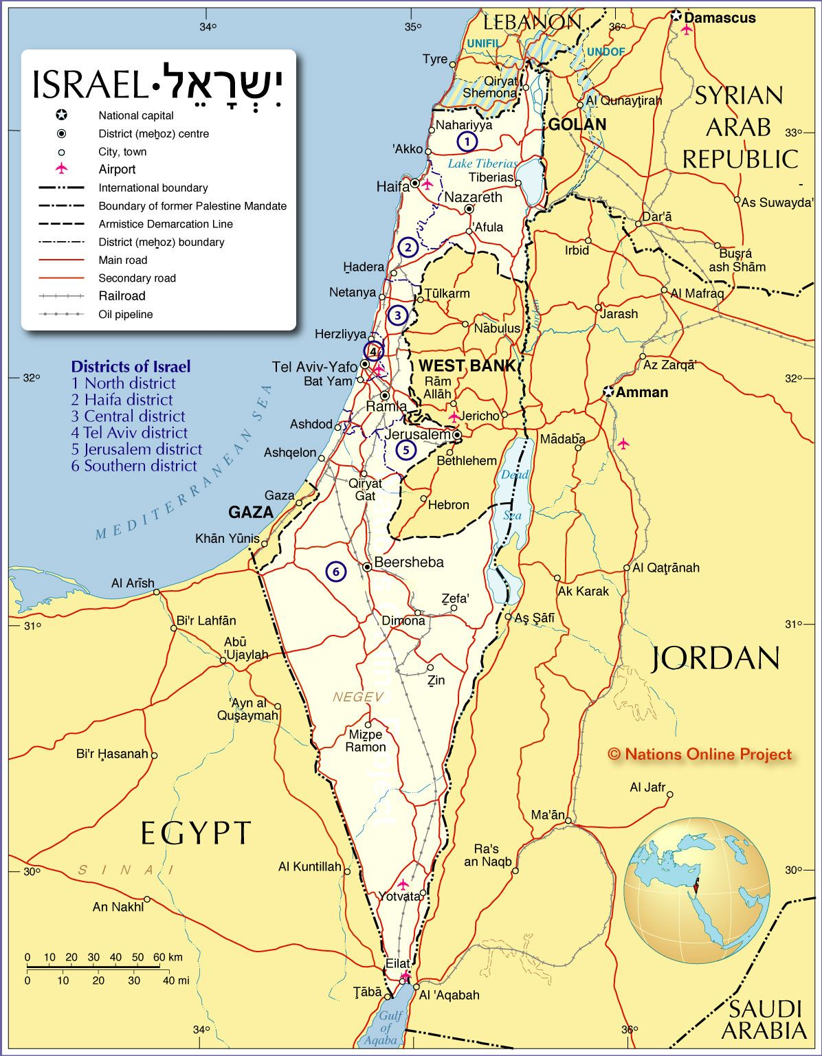 Mapa de israel nation online israel and tourism mapa poltico de israel gumiabroncs Images