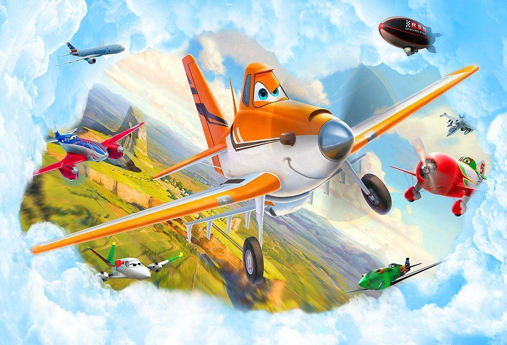 Pilotenzimmer Kinder Fototapete Poster PLANES