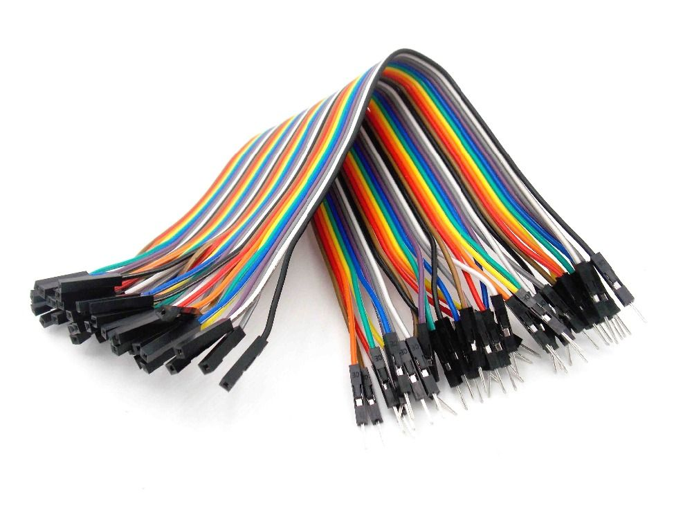 40pcs 20cm 1p-1p female to male jumper wire Dupont cable Breadboard ...