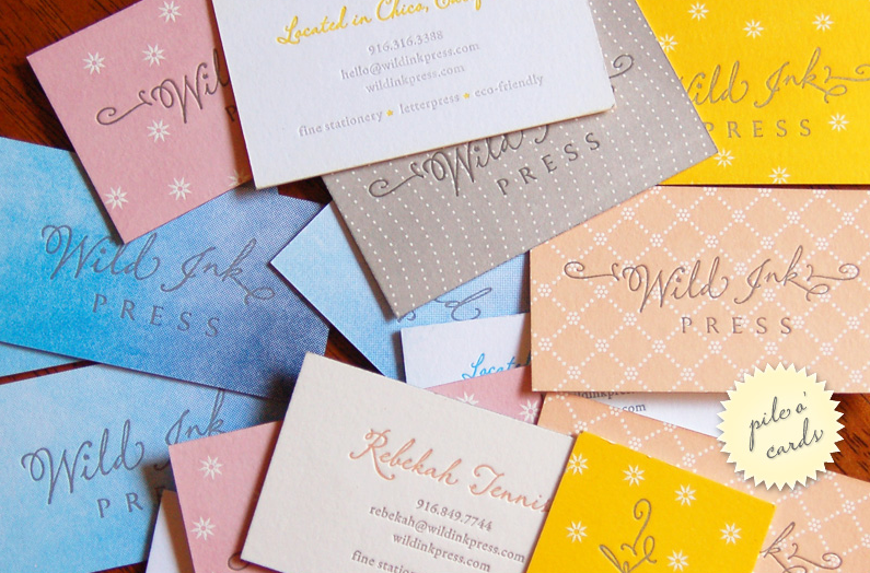 sample business card collectionwild ink press  via