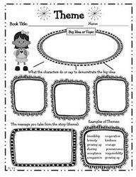 4th Grade Reading Literature Graphic Organizers for Common