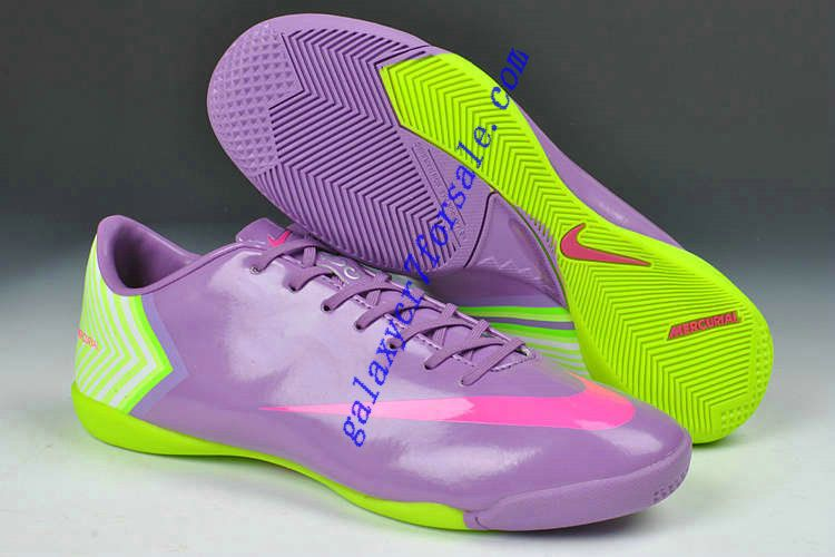 sale retailer 7c104 1ec82 Nike Mercurial Vapor X IC Indoor Boots - Purple Fluorescent Yellow Soccer  Shoes On Sale