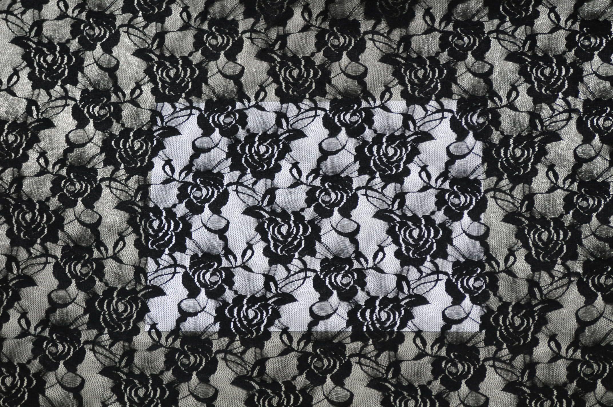 black lace large black lace fabric bonnie phantasm spoonflow