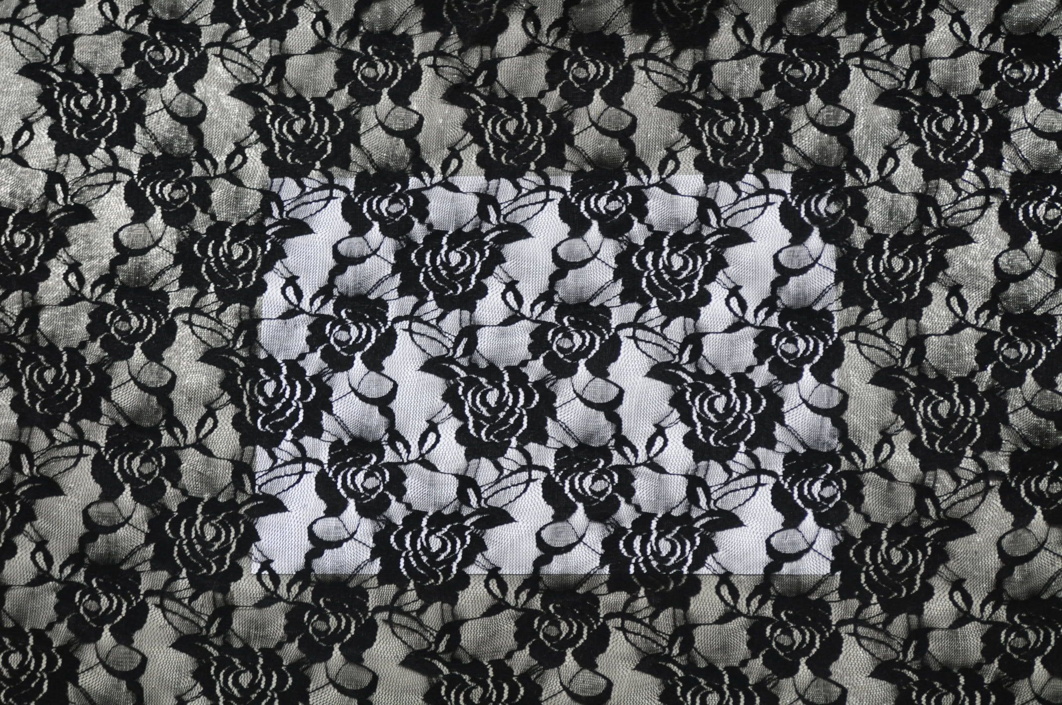 100 polyester new black lace rose pattern web net fabric