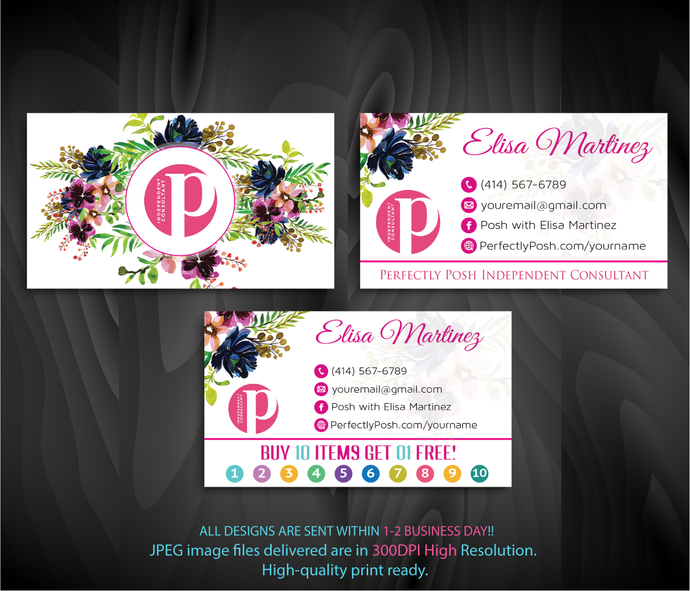 Perfectly Posh Punch Card Personalized