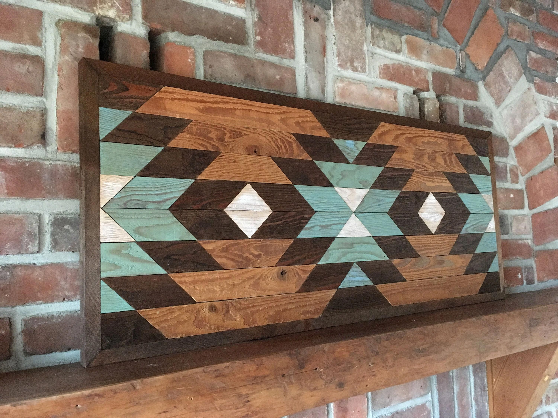PENDLETON - Reclaimed wood wall art - Southwestern wood wall decor - Navajo art inspired