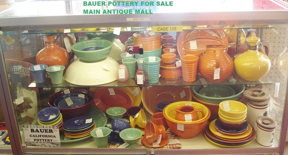Bauer pottery showcase main antique mall medford oregon 1