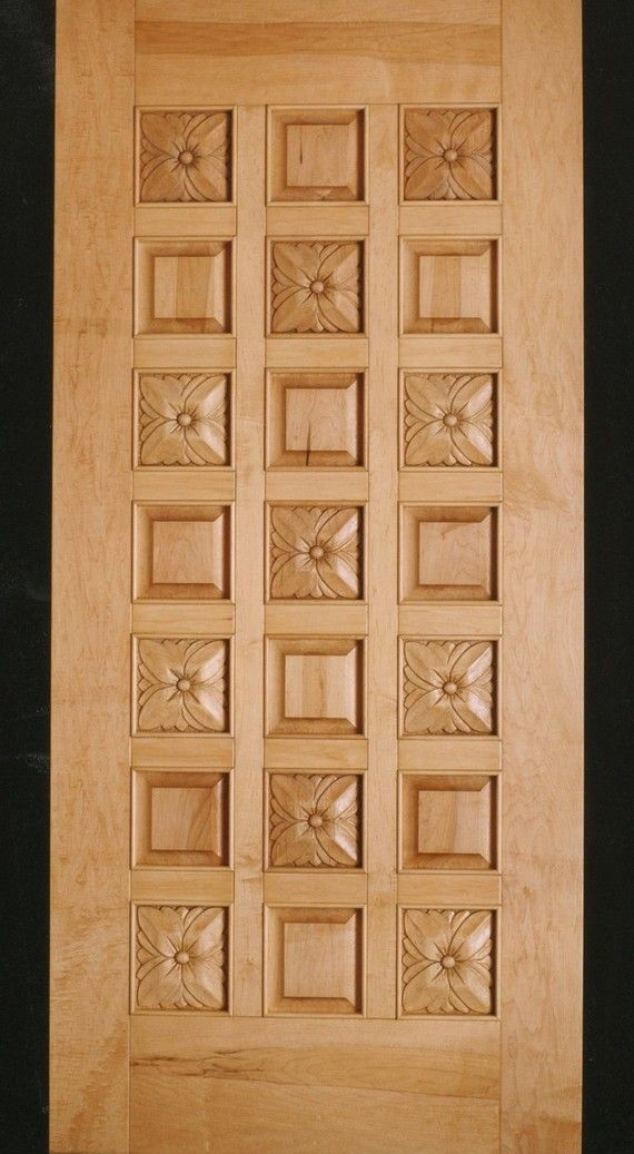 Hand Carved Twenty One Panel Door In Maple Wooden Door Design Wooden Main Door Design Entry Door Designs