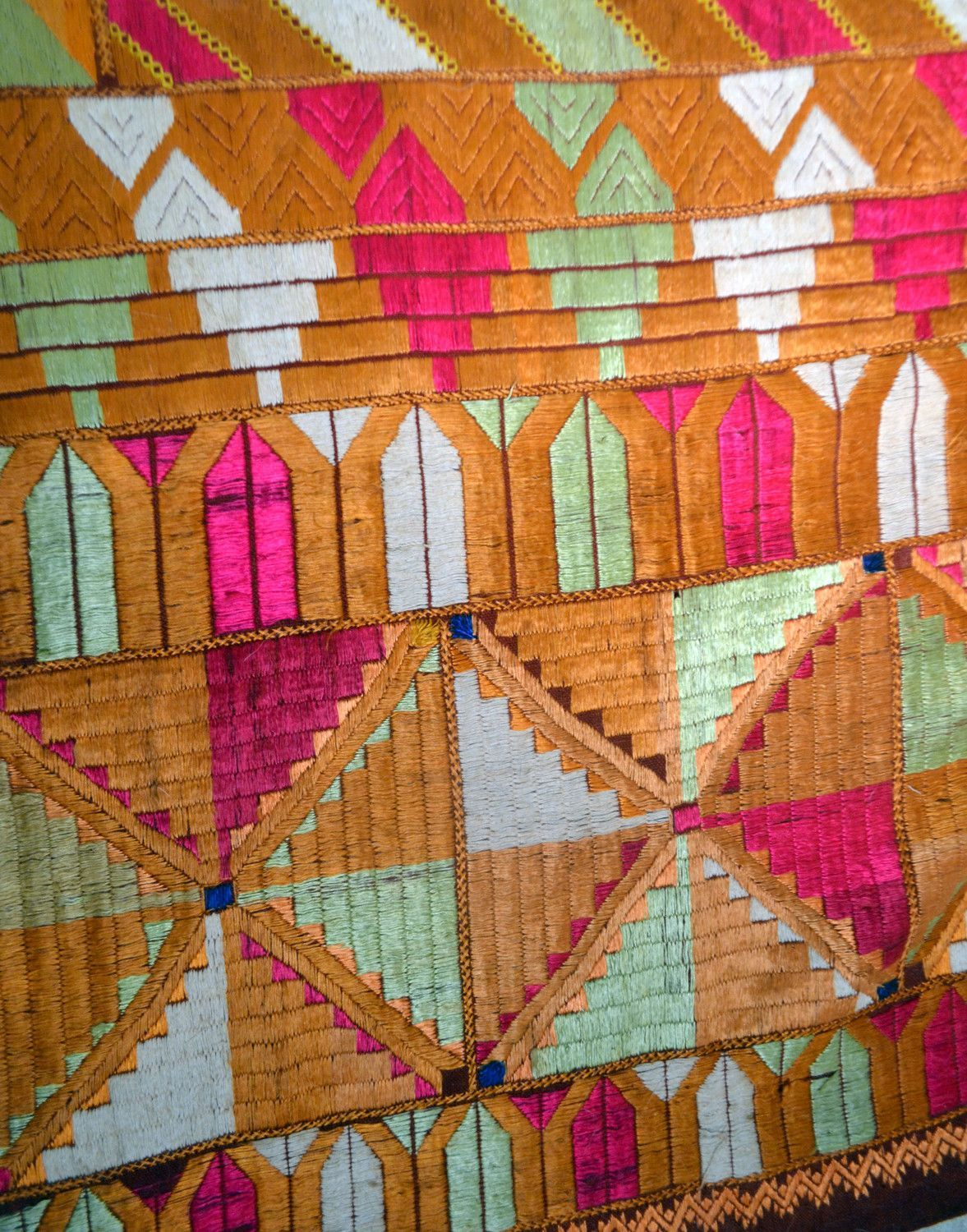A late-19th or early 20th century phulkari wedding shawl from the ...