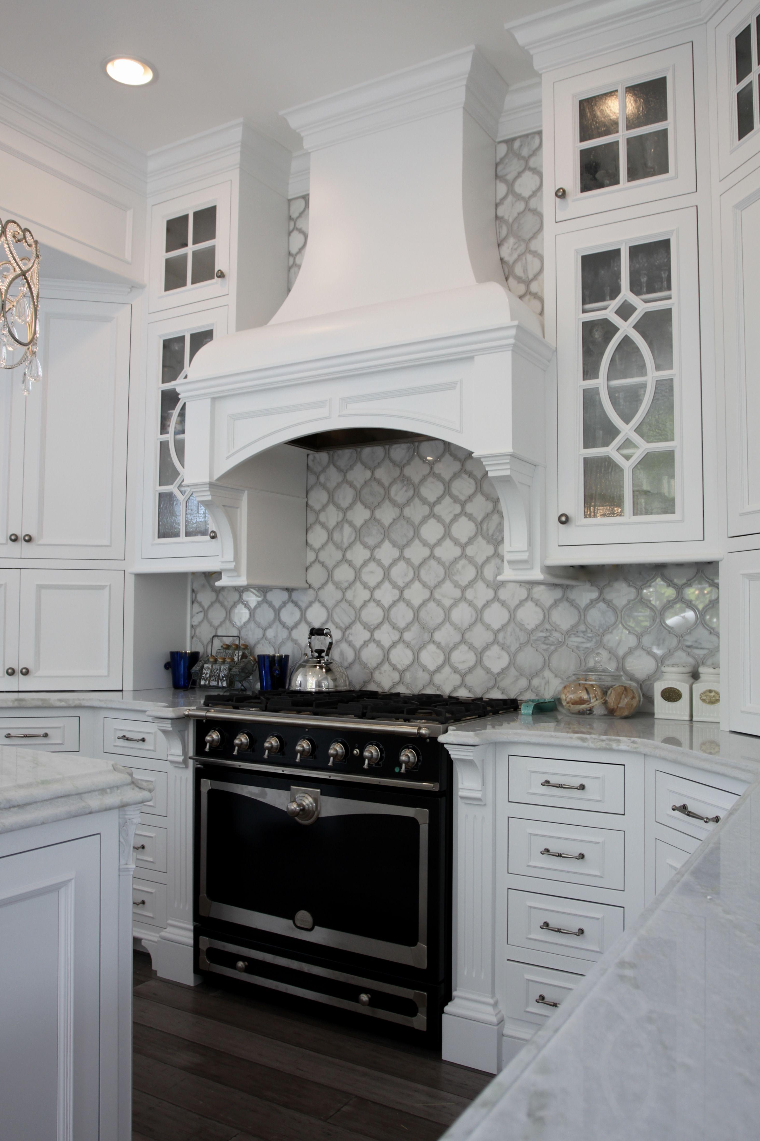 Custom Wood Hood With Images Kitchen Backsplash Designs