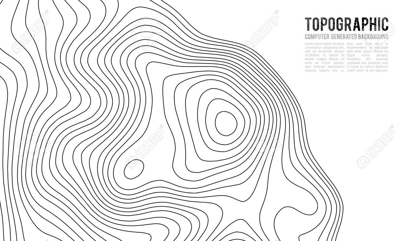 Topographic Map Contour With Elevation Contour Map