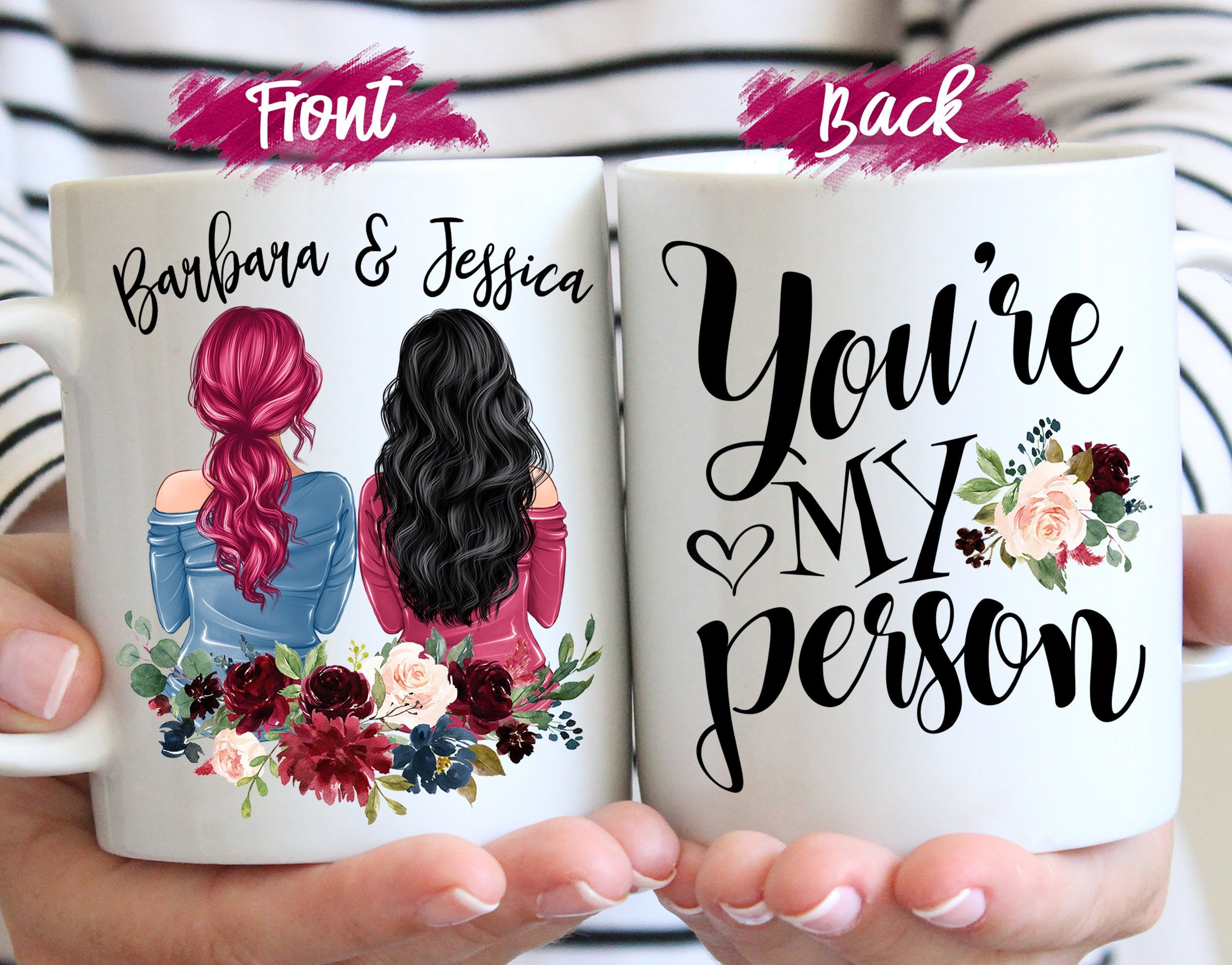 Youre my person custom best friend gift mug best etsy