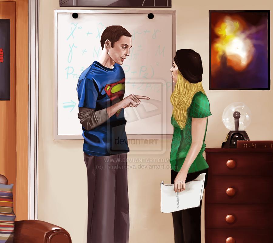 His Permission: Sheldon & Penny Artwork by Landersova