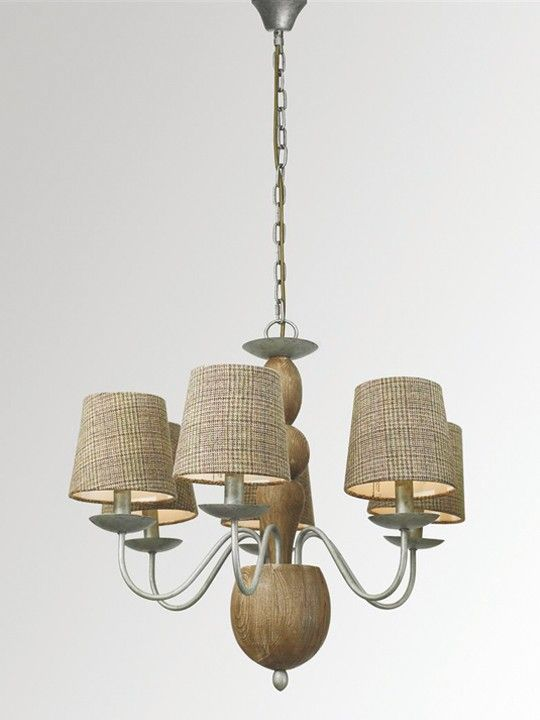 Voyage maison edwin 6 lamp chandelier with shades