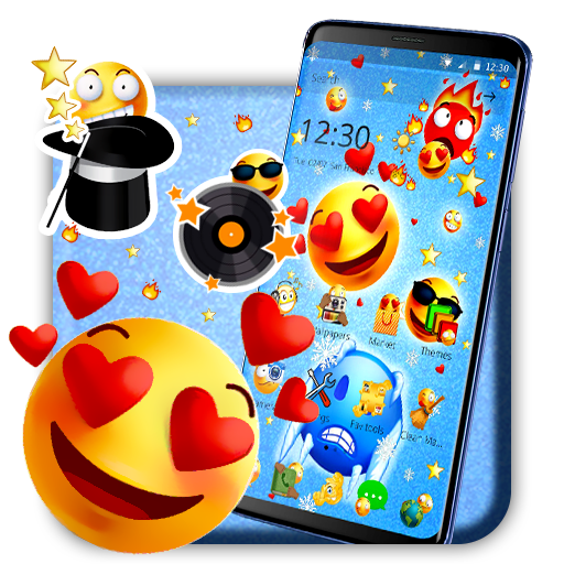 Emoji collection theme for Android, its free and amazingly