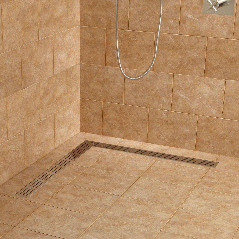 Loup L Shaped Linear Shower Drain Bathroom Shower Drain