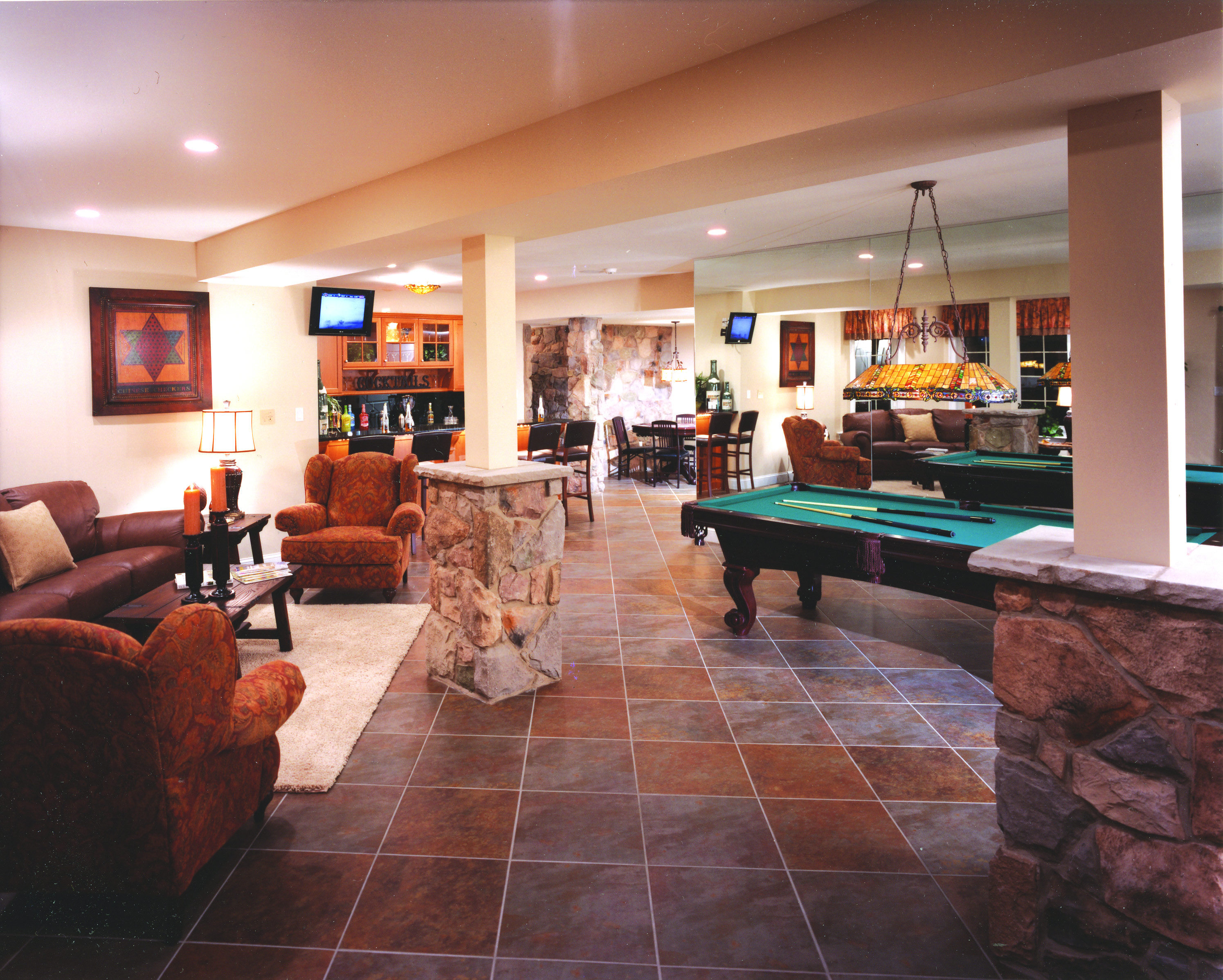 Amazing Layout For This Multi Purpose Basement Recreation Room, Living Room,