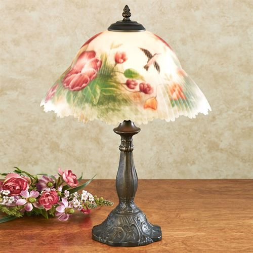 Serenitys Song Floral Table Lamp Table Lamp Vintage Lamps