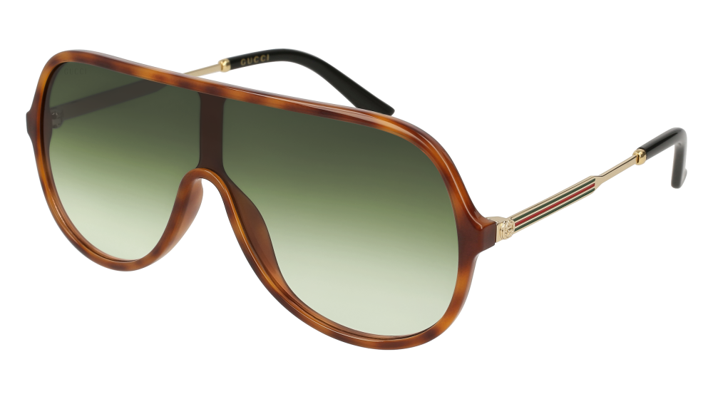 82f41a6ff36 Gucci - GG0199S-004 Avana Gold Sunglasses   Green Gradient Lenses ...