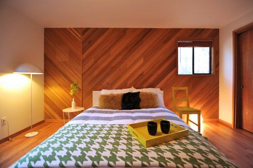 Wood Panelling Done Right Love The Angled Asymmetrical