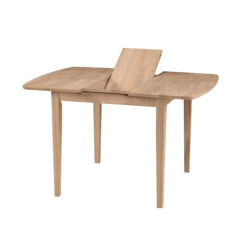 International Concepts Unfinished Shaker Leg Dining Table K T36x