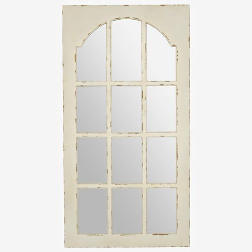 Distressed White Window Pane Mirror White Windows Mirror Decor Window Pane Mirror