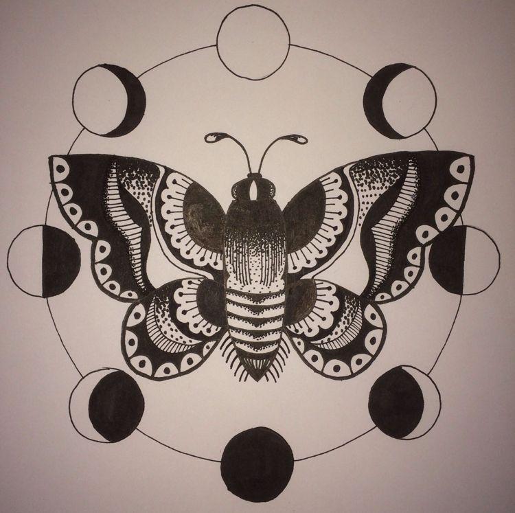 Motte Tattoo Bedeutung Des Motivs Und Einige Der Schonsten Mottenarten Geometrischtattooideen Tattoo Moon Phases Tattoo Luna Moth Tattoo Moth Tattoo Design