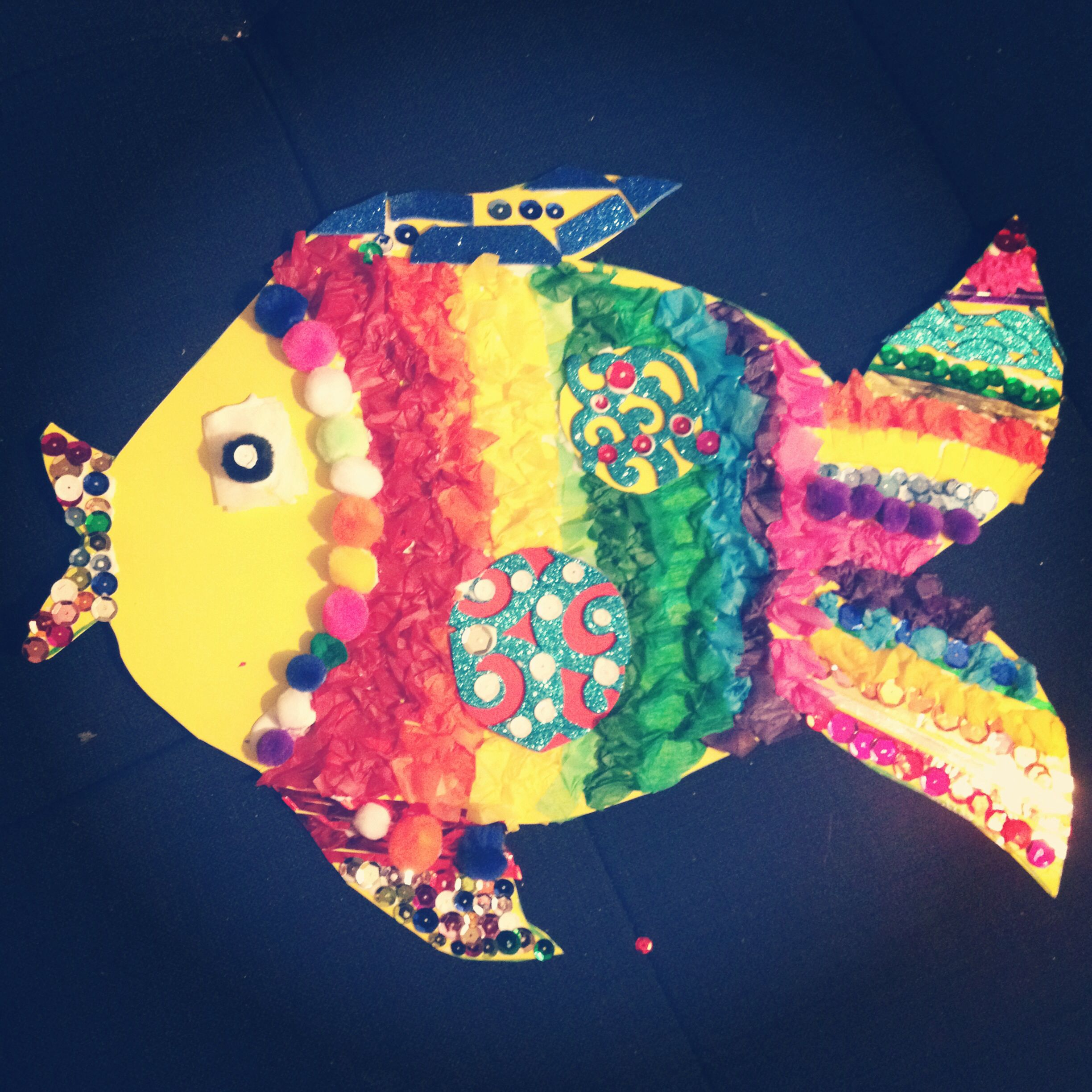 Super easy and fun rainbow fish craft for kids all you for Rainbow fish craft