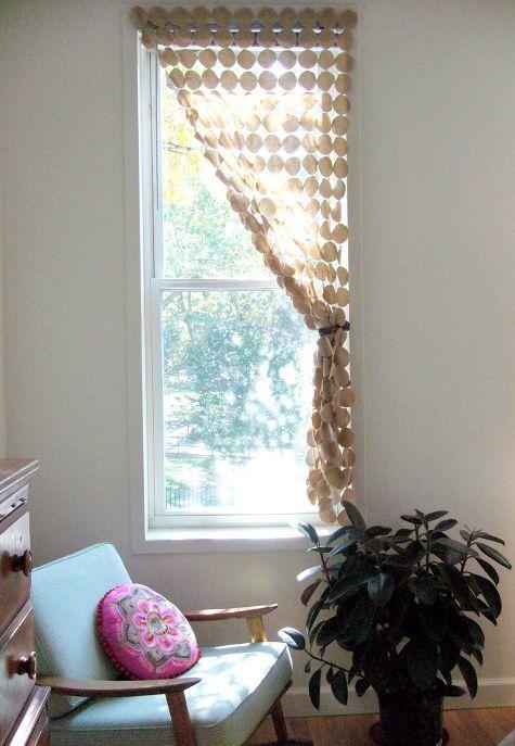 felt circle curtain - window treatments | Pinterest - Gordijnen ...