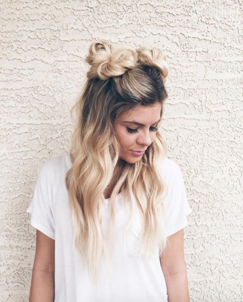 Hairstyle Girl Buns: Textured Double Buns By Katelynd McDonald