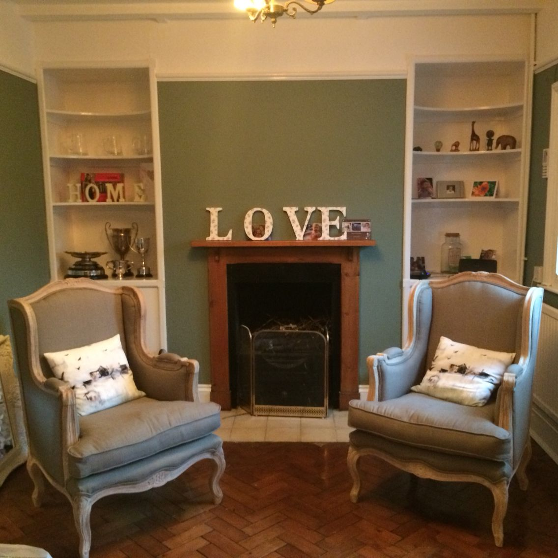 French Style Sitting Room Feat Farrow Amp Ball Card Room