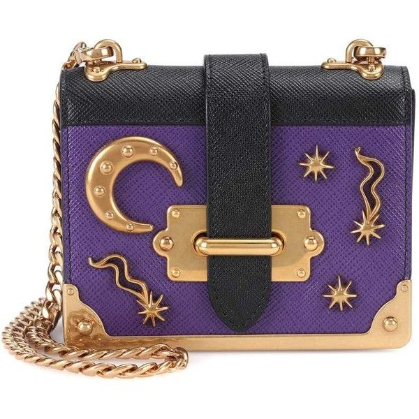 c26d3542b7 Prada Embellished Leather Shoulder Bag ( 1
