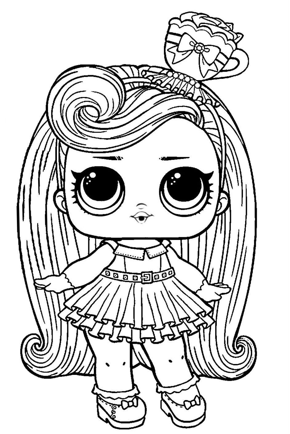 Lol Surprise Hairvibes Coloring Darling Folhas Para Colorir Desnhos Para Colorir Desenhos Para Criancas Colorir