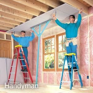 How To Hang Drywall Like A Pro Drywall Installation Hanging Drywall Drywall Ceiling