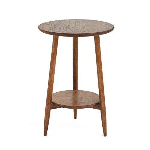 XBBZ Nordic Oak Side Table, Simple Sofa Living Room Mini Coffee ...