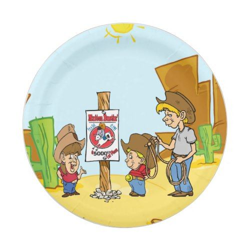 sc 1 st  Pinterest & Western Mutton Bustin Cowboy Cowgirl Kids Party Paper Plate