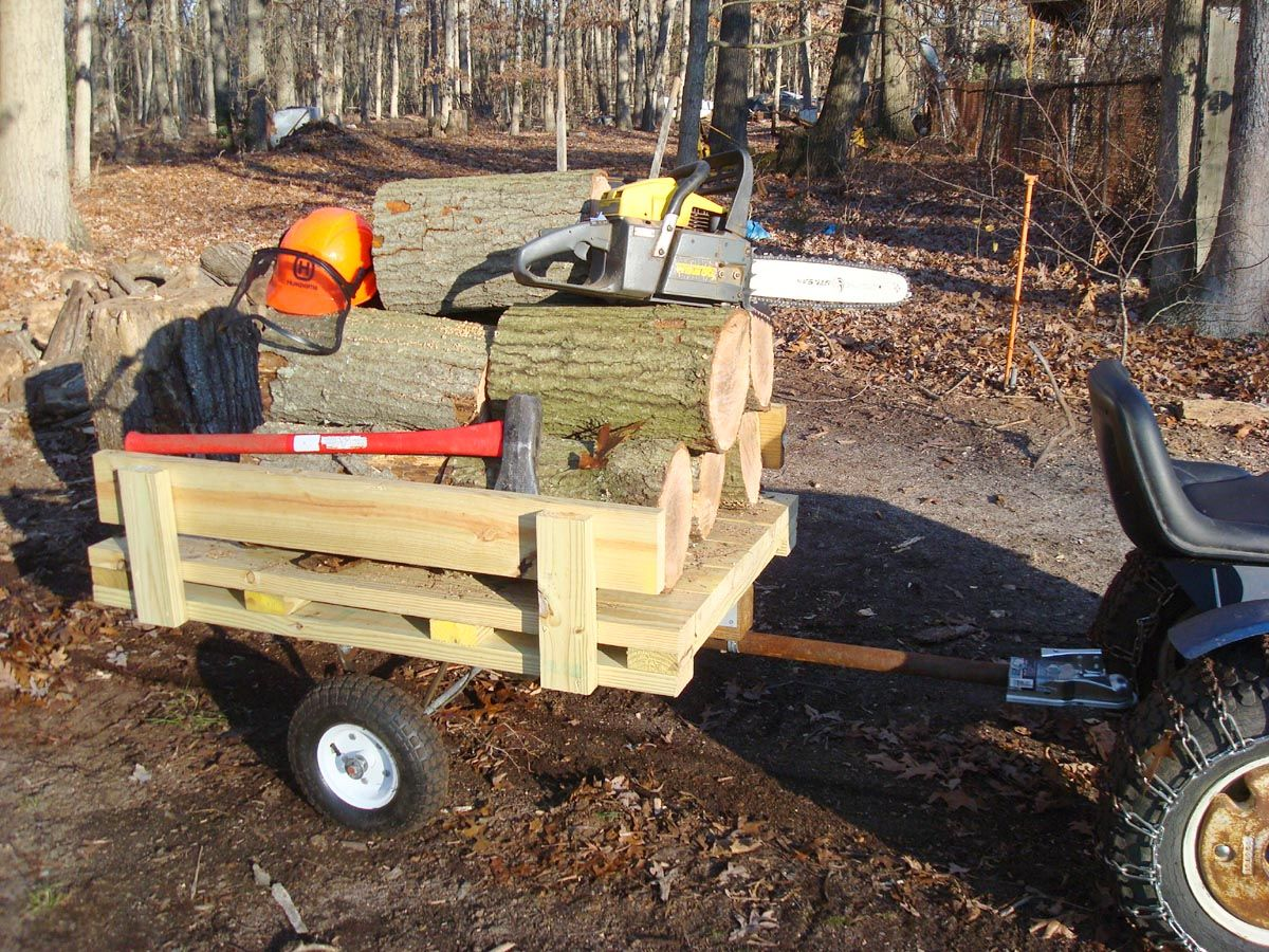 homemade garden tractor equipment - Garden Tractor Trailer