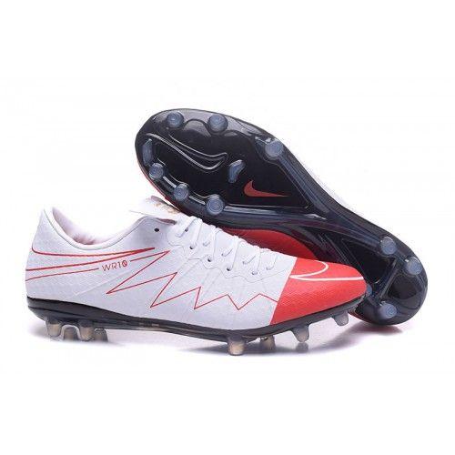 ny nike hypervenom phantom ii fg hvid rød sort mænd fodboldstøvler til salg.