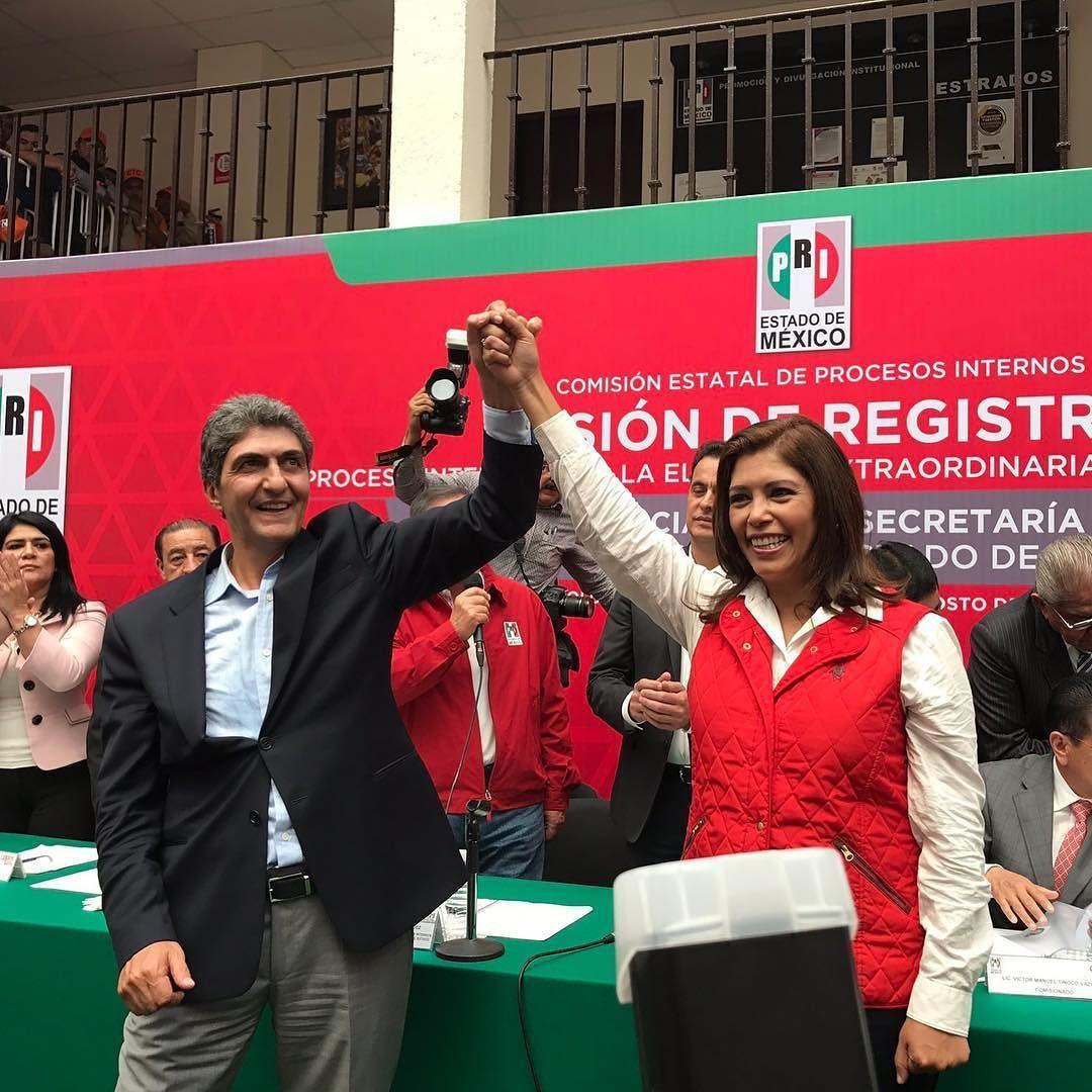 #AlMomento Se registra la Ernesto Nemer como Presidente  y Bren Alvarado como Secretaria General del PRI Estado de México