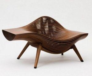 Eigentijdse stoel van hout futuristic furniture in 2018