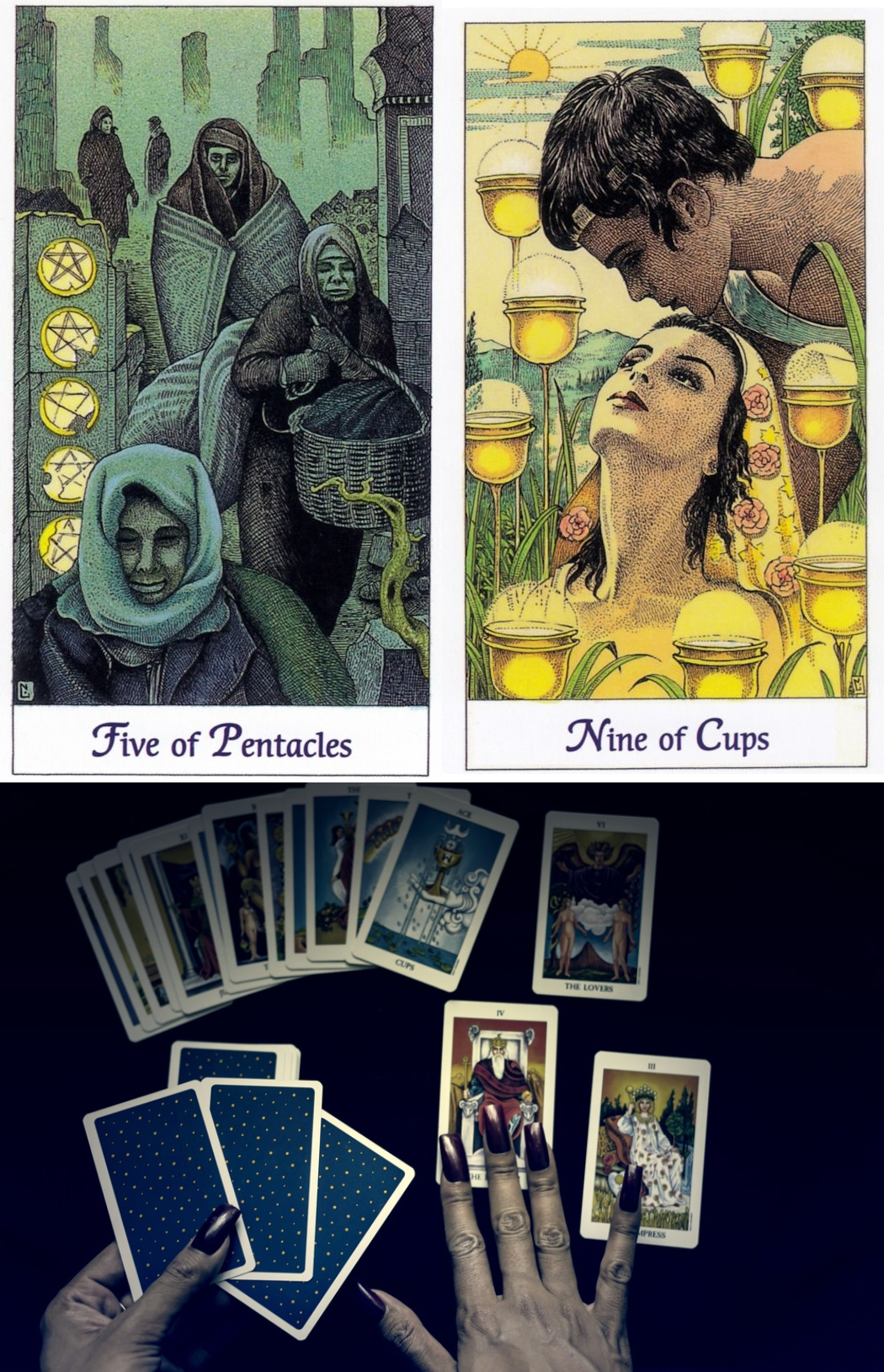 Online Love Card Reading in 5  Tarot card predictions, Free