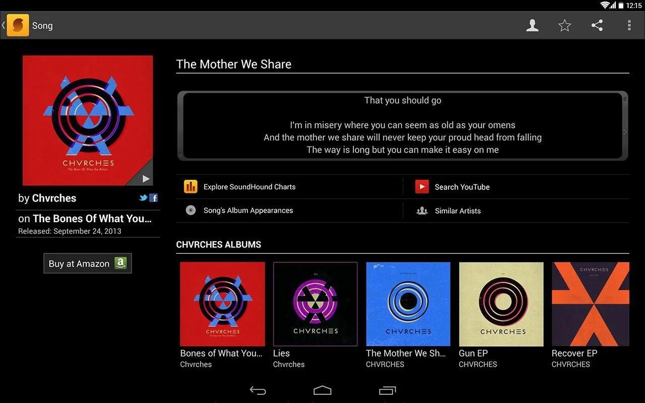Soundhound is an Android App with blazing features. With