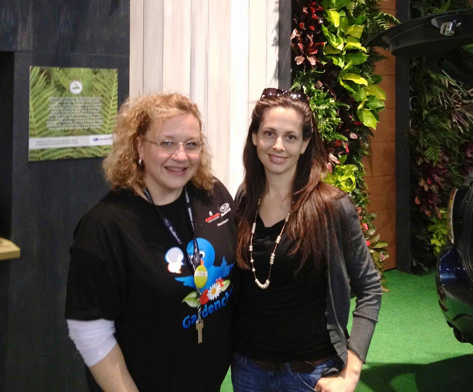 Me and Brenda Haas, administrator and founder of #gardenchat on twitter at the Philadelphia Flower Show in March 2012