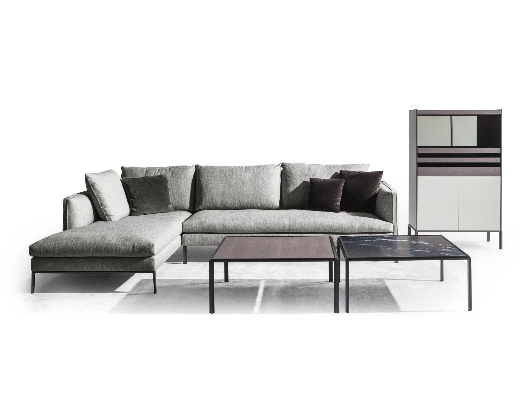 paul sofa with chaise longue by molteni c design. Black Bedroom Furniture Sets. Home Design Ideas