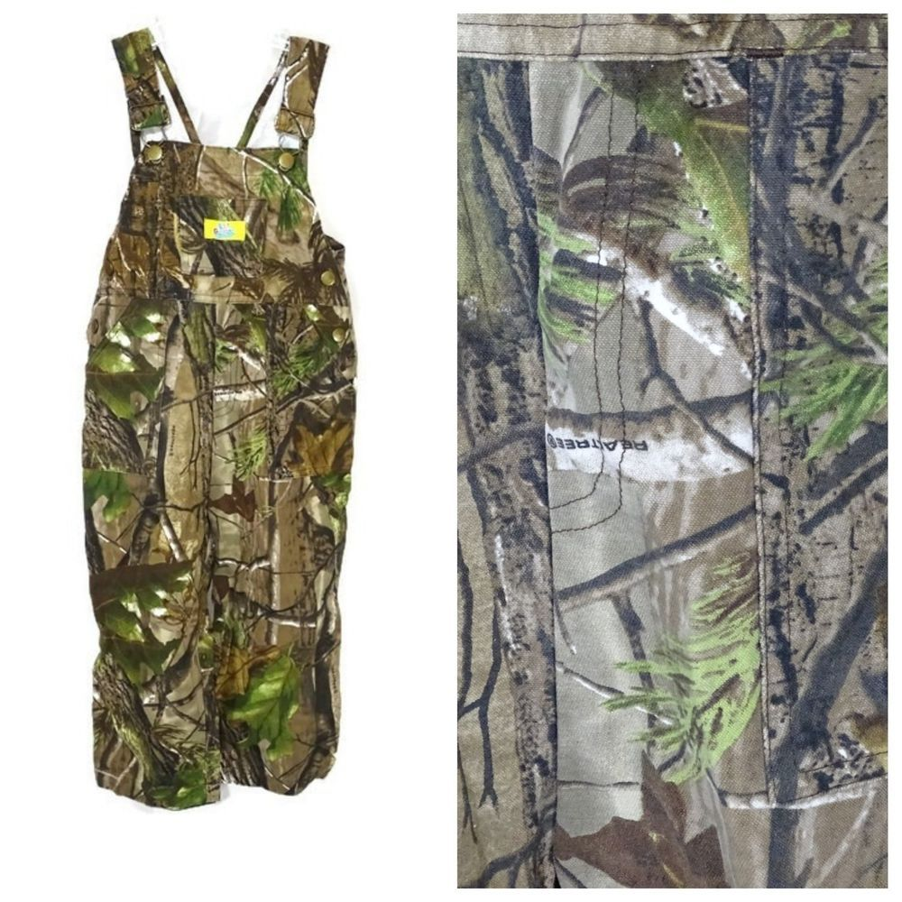 lil gamer realtree bib overalls pants boys size 2t camo on walls legend hunting coveralls id=22009
