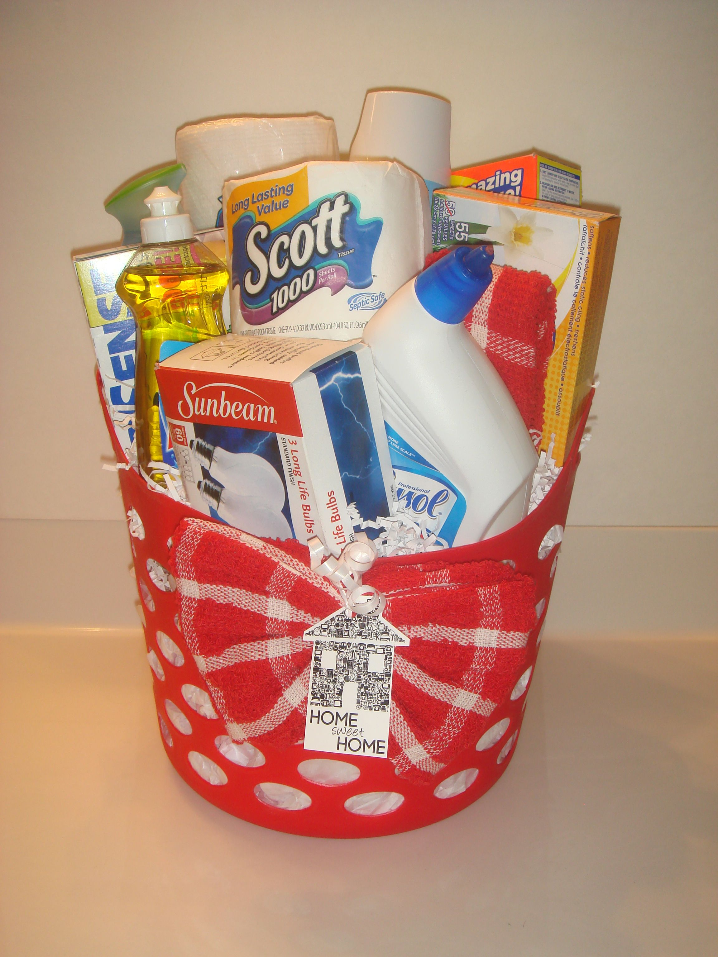 Housewarming Gift For Sister Housewarming Gift Basket Idea Gift Ideas Pinterest