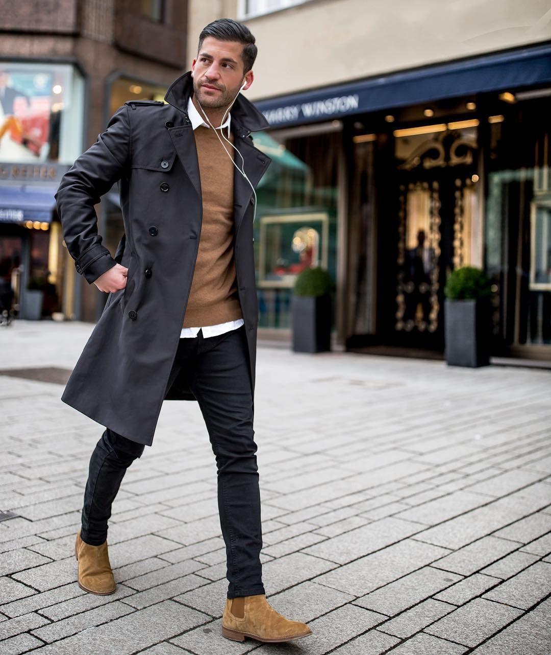 Prächtig Eleganter Casual Style für Männer. Pullover und Lederschuhe in &MS_65